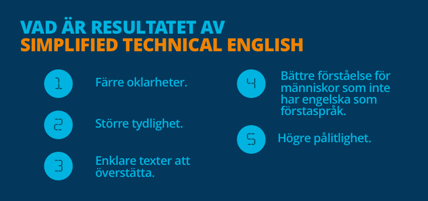 Simplified Technical English - fördelar